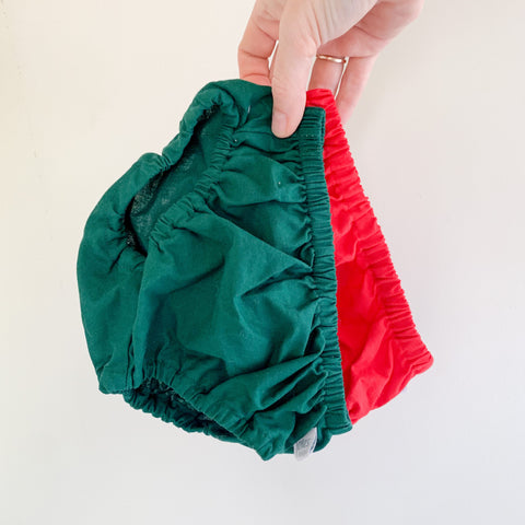 Size 00 two pack | Santa Red + Forest Green