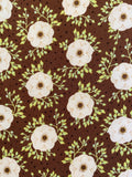 Poppy Mocha cot sheet - Baby Jones Designs