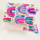 RAINBOW DIPPED doll bedding