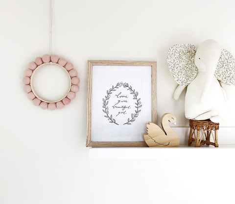 luna hoop | blush - Baby Jones Designs