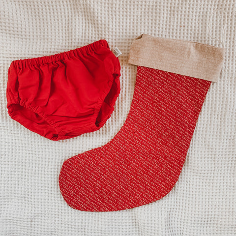 Size 1 pack | Santa Red + Merry Christmas Stocking