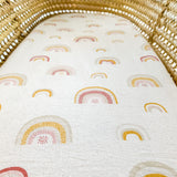 Boho Rainbow Cotton Bassinet Sheet