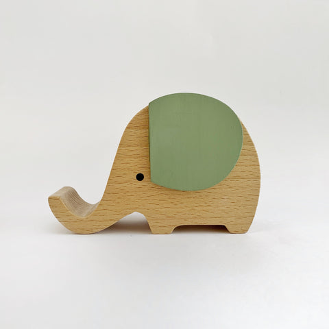 Wooden Musical Elephant | SAGE - Baby Jones Designs