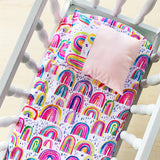 RAINBOW DIPPED doll bedding - Baby Jones Designs