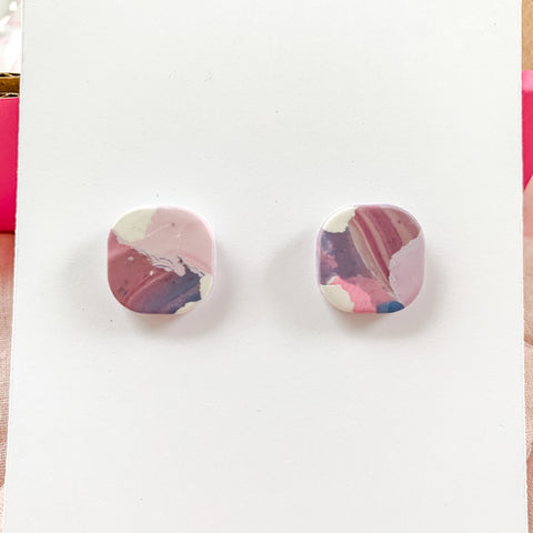 Polymer Clay Stud Earrings | Cloud Collection B