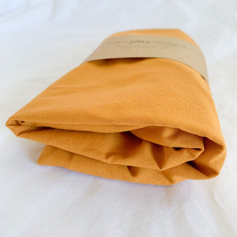 Mustard Cotton Bassinet Sheet