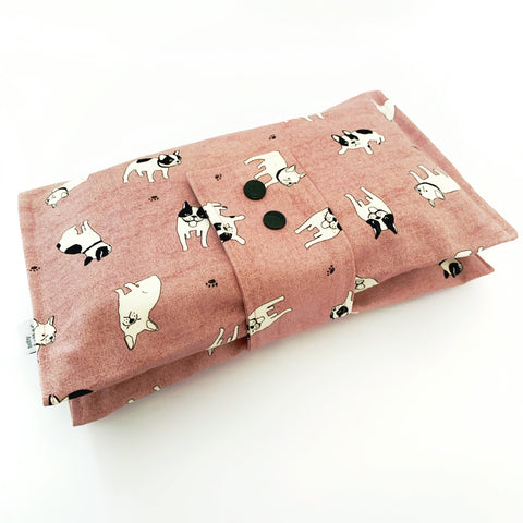 Pug Love nappy wallet - Baby Jones Designs