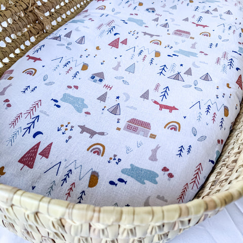 Woodland Living Cotton Bassinet Sheet