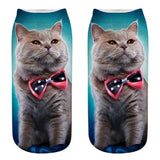 Cat Socks - Ankle, Bow Tie - Cat Lovers Australia