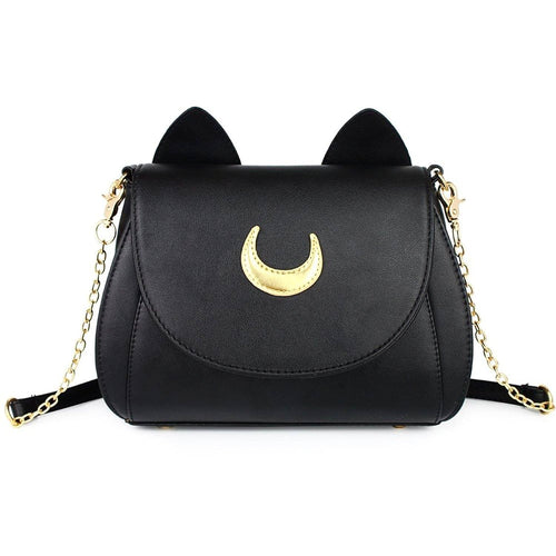 Luna Cat Ears Handbag - Black - Cat Lovers Australia