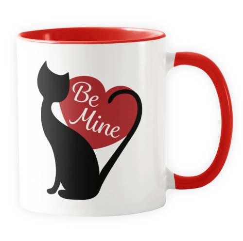 Be Mine Valentine - Novelty Cat Mug - Cat Lovers Australia