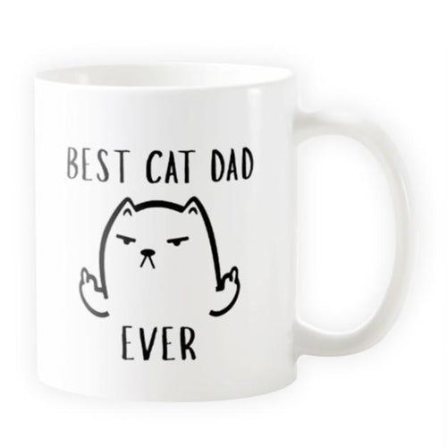 Best Cat Dad Ever - Novelty Cat Mug - Cat Lovers Australia