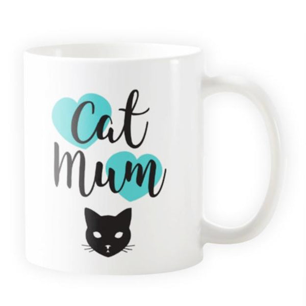 Cat Mum with Hearts - Novelty Cat Mug (More Colours) - Cat Lovers Australia