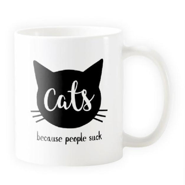 Cats, Because People Suck - Cat Mug - Cat Lovers Australia