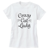 Crazy Cat Lady Black Print Women's T-Shirt - Cat Lovers Australia