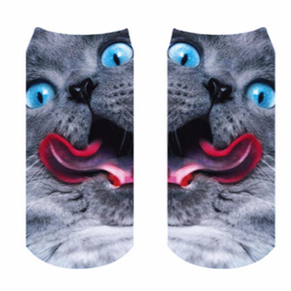 Cat Socks - Crazy Blue Eyes - Cat Lovers Australia