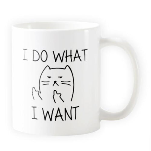 I Do What I Want - Novelty Cat Mug - Cat Lovers Australia