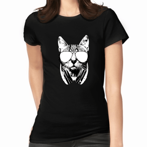 Kool Kat Women's T-Shirt - Cat Lovers Australia