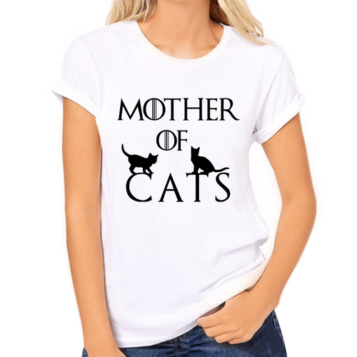 Mother of Cats Print Women's T-Shirt - Cat Lovers Australia