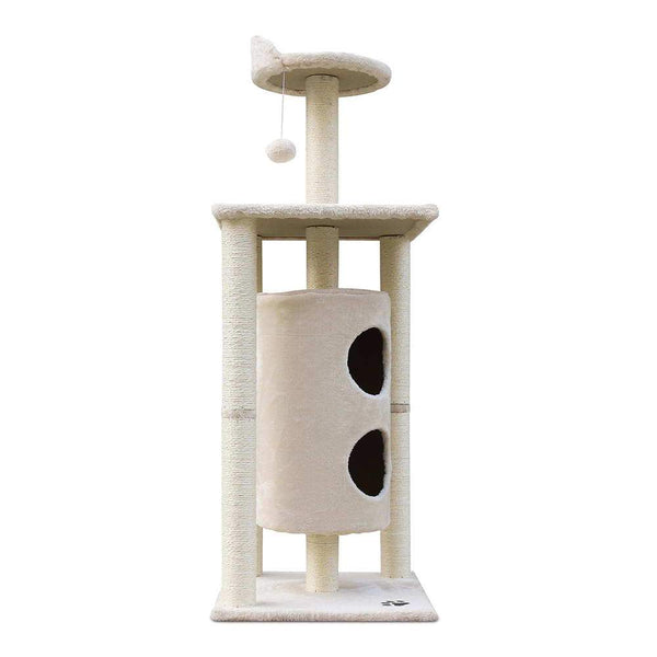 Cat Scratcher Tree 123cm Beige - Cat Lovers Australia