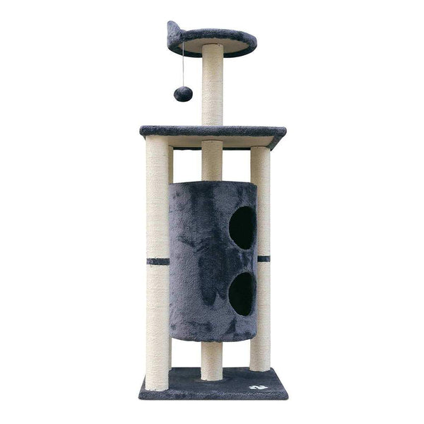 Cat Scratcher Tree 123cm Grey - Cat Lovers Australia