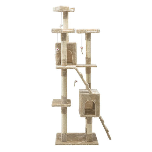 Luxury Cat Tree House and Scratching Post 180cm Beige - Cat Lovers Australia