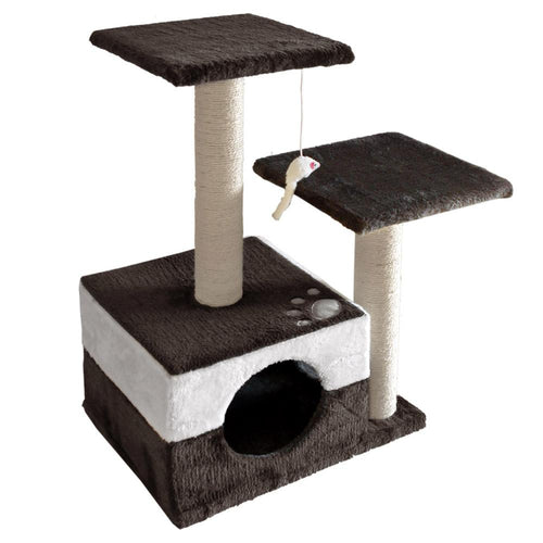 Luxury Cat Tree House and Scratching Post Grey - Cat Lovers Australia