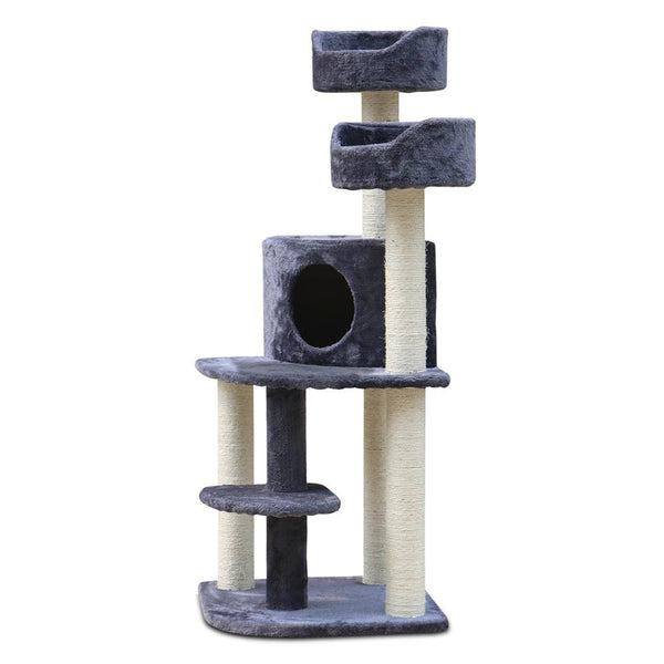 Cat Scratcher Tree 126cm Grey - Cat Lovers Australia