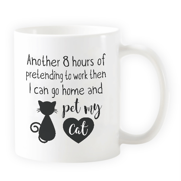 Pet My Cat - Novelty Cat Mug - Cat Lovers Australia