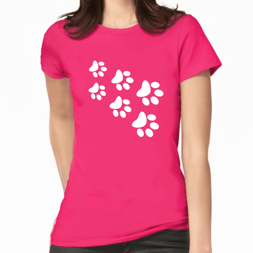 Cat Paws Print Women's T-Shirt (More Colours) - Cat Lovers Australia