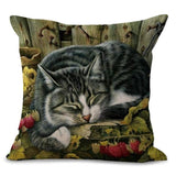 Raspberry Patch Cat Design Cushion Cover - Cat Lovers Australia