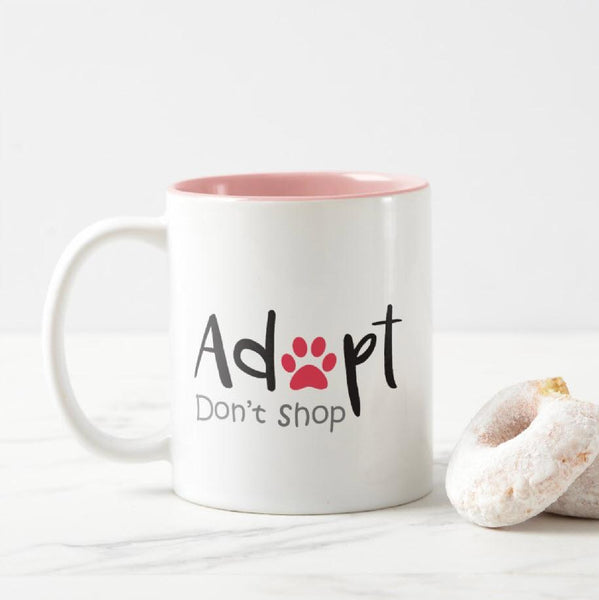Adopt Don't Shop - Novelty Cat Mug - Cat Lovers Australia