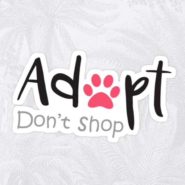 Adopt Don't Shop Sticker (Pink or Blue) - Cat Lovers Australia