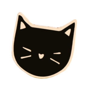 Cat Enamel Pin (Black or White) - Cat Lovers Australia