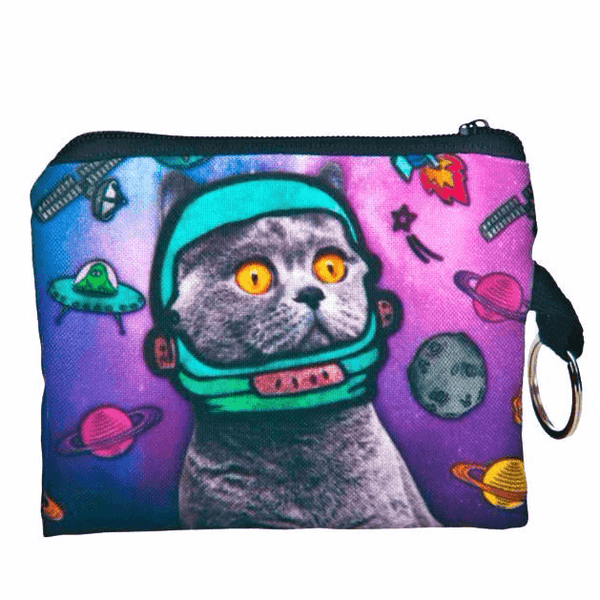 Cat Coin Purse - Astro Kitty in Space - Cat Lovers Australia