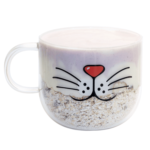 Kitty Nose, Mouth and Whiskers Glass Cup - Cat Lovers Australia