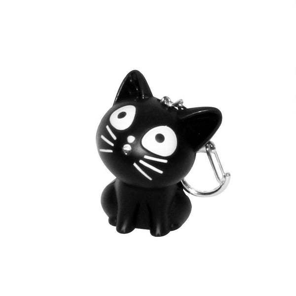 Cat with Meow Sound & Light Key Ring (More Colours) - Cat Lovers Australia