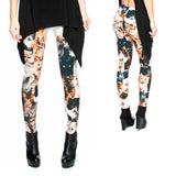 Women's Leggings with Cat Collage Print - Cat Lovers Australia