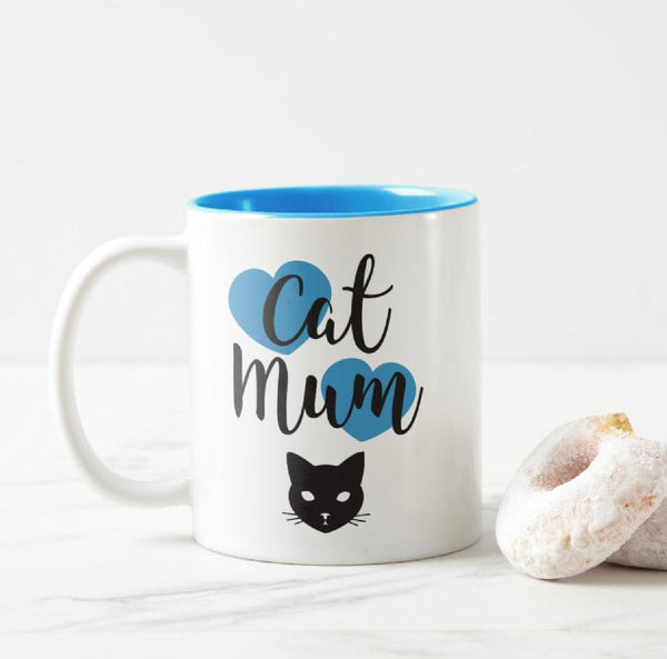 Cat Mum Two-Tone - Cat Mug (More Colours) - Cat Lovers Australia