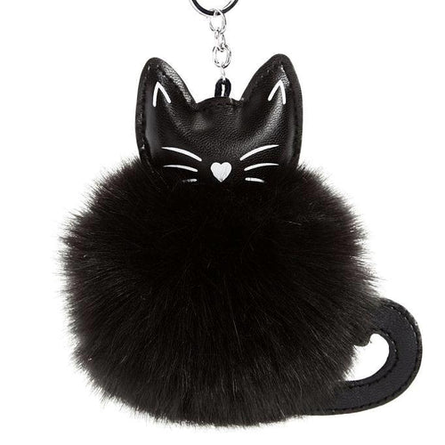 Fluffy Cat Charm Key Ring - Cat Lovers Australia