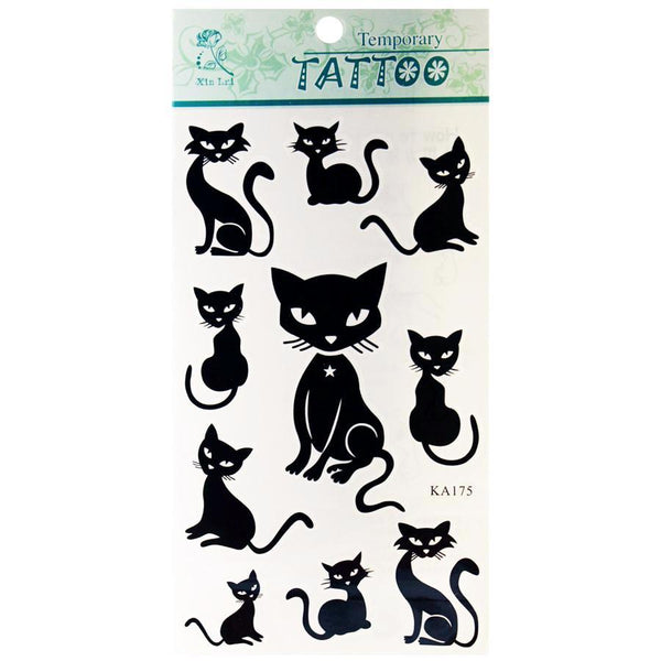 Cat Design Temporary Tattoos (More Designs) - Cat Lovers Australia