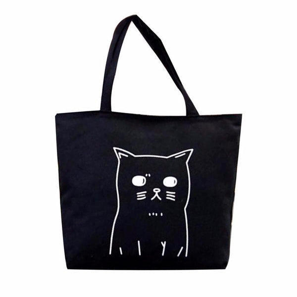 Black Cat Tote Bag - Cat Lovers Australia