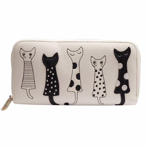Five Cats Wallet (More Colours) - Cat Lovers Australia