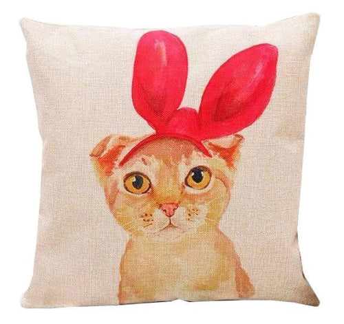 Big Bow Cat Design Cushion Cover - Cat Lovers Australia
