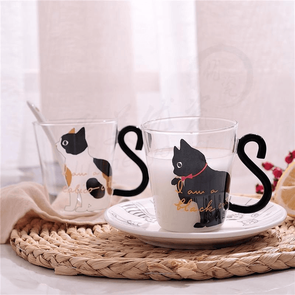 I am a Black Cat Glass Cup - Cat Lovers Australia