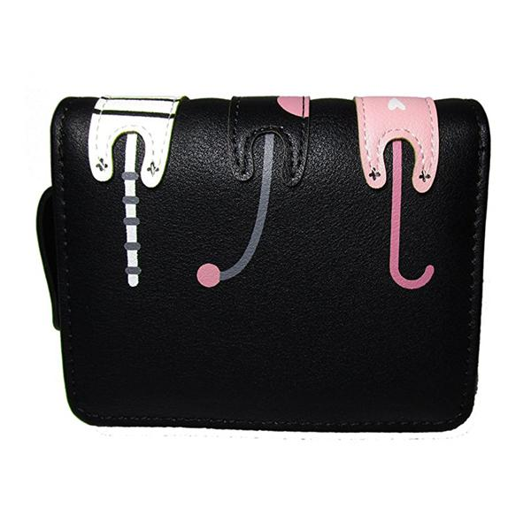 Mini Three Cats Purse - Black & Pink - Cat Lovers Australia