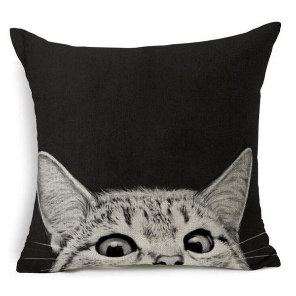 Peek-a-Boo Cat Design Cushion Cover - Cat Lovers Australia