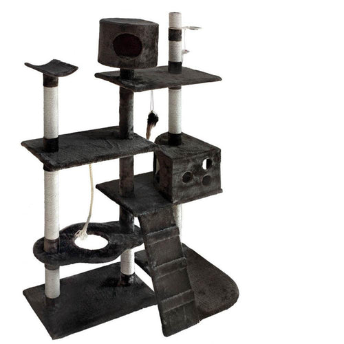 Luxury Cat Tree and Scratching Post Grey - Cat Lovers Australia