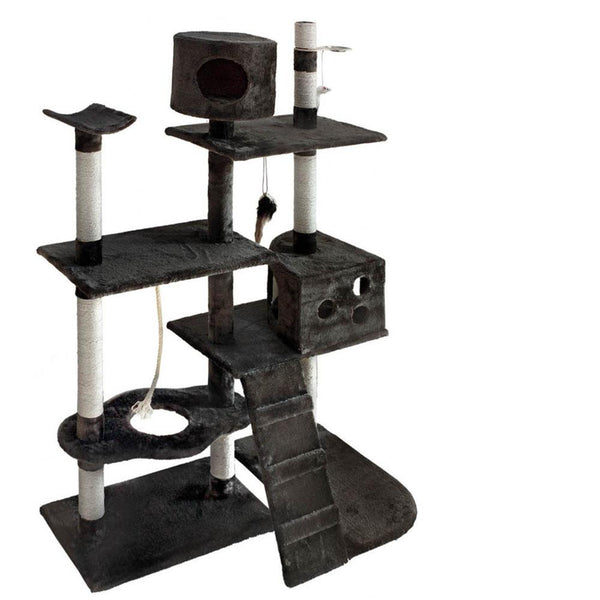 Luxury Cat Tree and Scratching Post 170cm Grey - Cat Lovers Australia