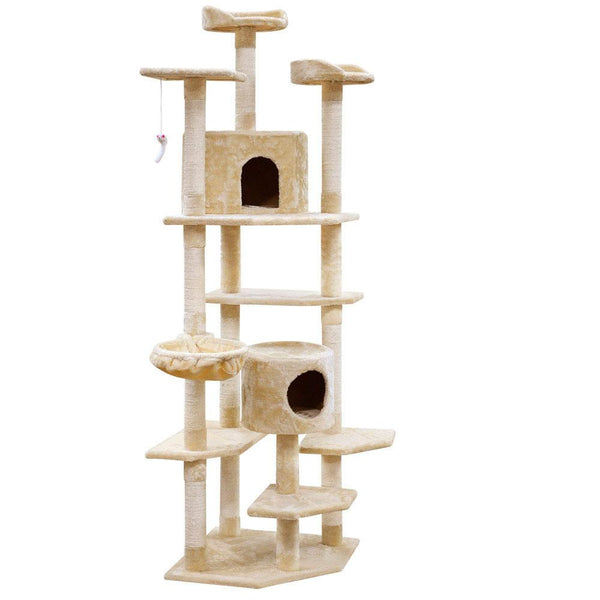 Luxury Giant Cat Tree Condo and Scratching Post 203cm - Cat Lovers Australia